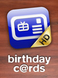 iPhone App Birthday Cards HD